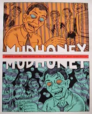 Ward Sutton - 1996 - Mudhoney Concert Poster