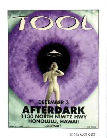 Matt Getz - 1994 - Tool (After Dark) Concert Poster