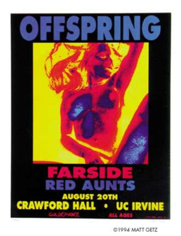 Matt Getz - 1994 - Offspring Concert Poster (Signed & Numbered)