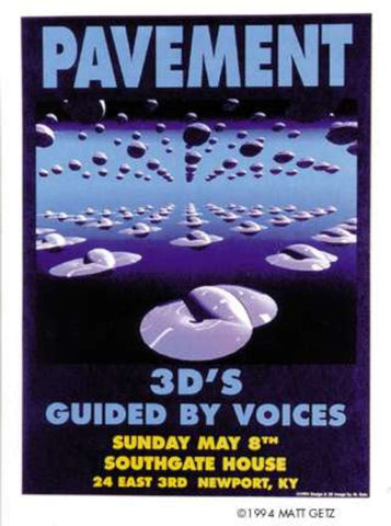 Matt Getz - 1994 - Pavement Concert Poster