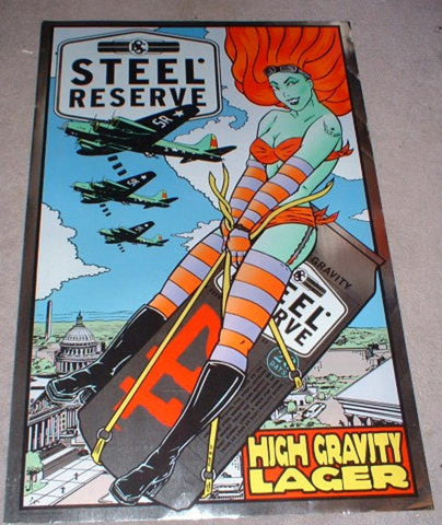 Frank Kozik -1999 - Steel Reserve Brewery Promo Poster