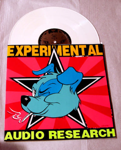 "Experimental Audio Research ""Delta 6"" Pink/Purple 1996 Colored Vinyl Art By Kozik"