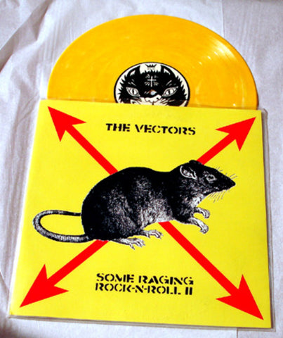 "The Vectors ""Some Raging Rock-n-Roll II"" 1997 Colored Vinyl Art By Kozik"