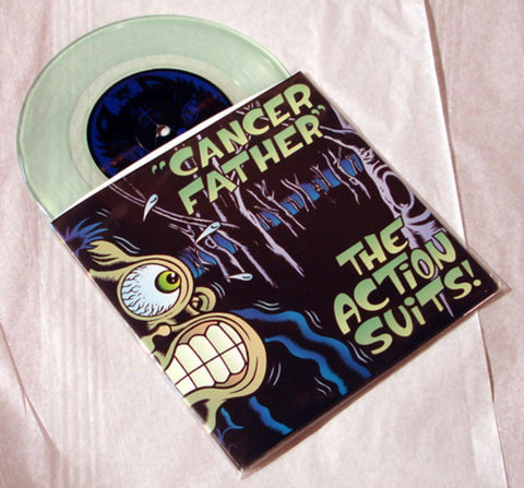 "Action Suits ""Cancer Father"" 1996 Colored Vinyl Art By Kozik"