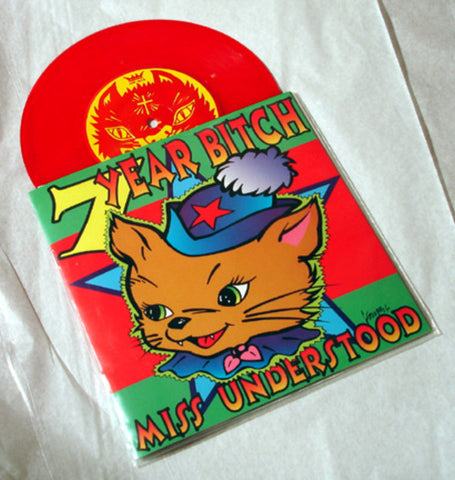 "7 Year Bitch ""Miss Understood"" 1996 Colored Vinyl Art By Kozik"
