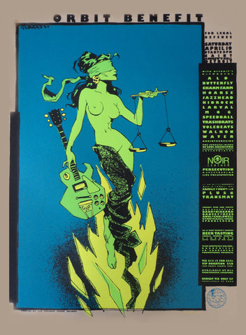 Glenn Barr - 1997 - Orbit Benefit Poster