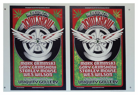 Gary Grimshaw - 1993 - Motor City - Joint Show - Uncut Sheet of Two  Poster