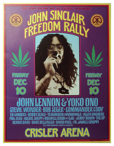 Gary Grimshaw - 1993 - John Sinclair: Freedom Rally  Poster