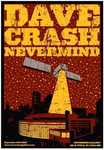 MC - 2010 - Dave Crash Nevermind Exhibition Poster