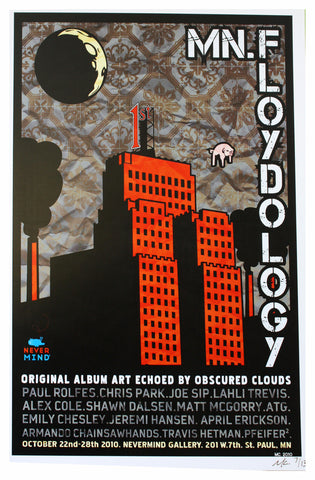 MC - 2010 - MN.Floydology Red Show Poster