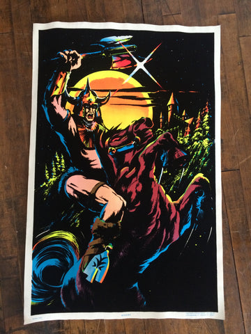 Felt Black Light Poster - 1984 Knight Poster