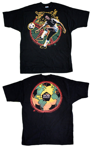 Bob Marley World Soccer Ball Vintage Tee