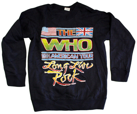 "The Who ""Long Live Rock -  1981 American Tour"" Vintage Sweatshirt"