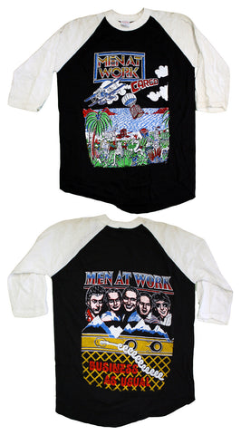 "Men At Work ""Cargo - Business As Usual"" Vintage Raglan Tee"
