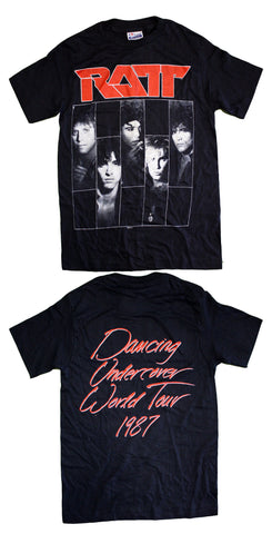 "Ratt ""Dancing Undercover World Tour 1987"" Vintage Tee"