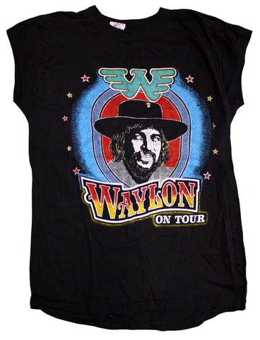 "Waylon ""On Tour"" Vintage Sleeveless Tee"