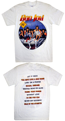"Bon Jovi ""Slippery When Wet' Vintage Concert Tee"