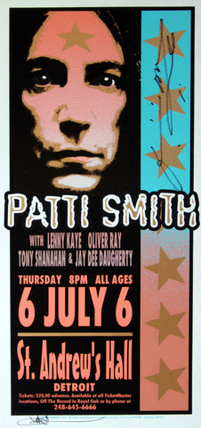 Mark Arminski - 2000 - Patti Smith - Autographed Concert Poster