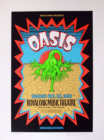 Gary Grimshaw - 1995 - Oasis Poster