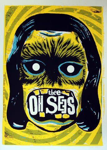 Lonny Unitus - 2011 - Thee Oh Sees Concert Poster