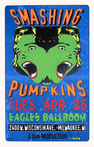 TAZ - 1994 - Smashing Pumpkins (Milwaukee) Concert Poster