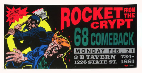 TAZ - 1994 - Rocket From The Crypt Concert Poster