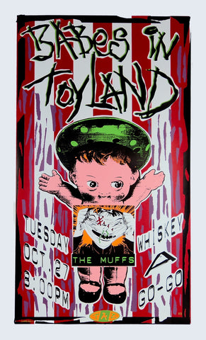 TAZ - 1992 - Babes In Toyland Concert Poster