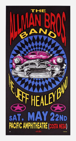 TAZ - 1993 - Allman Brothers Concert Poster