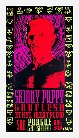 TAZ - 1992 - Skinny Puppy Concert Poster
