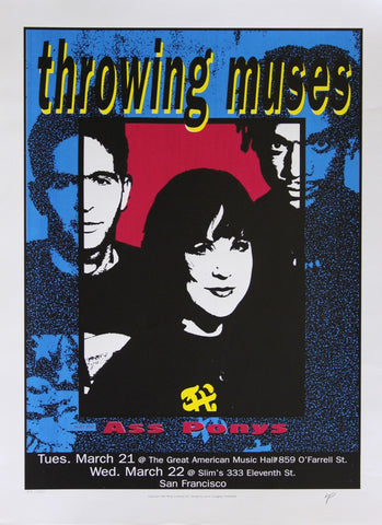 Lynne Porterfield - 1995 - Throwing Muses Concert Poster