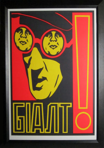 Shepard Fairey - 1997 - Giant Glasses (framed) Art Print
