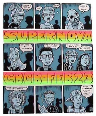 Ward Sutton - 1996 - Supernova Concert Poster