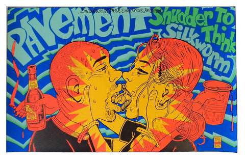 Ward Sutton - 1997 - Pavement Concert Poster