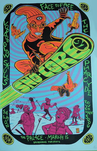 Ward Sutton - 1997 - Sno-Core Concert Poster