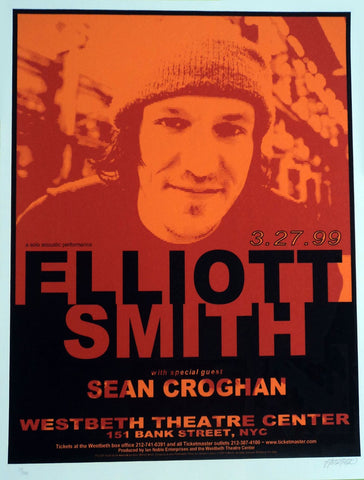 Lynne Porterfield - 1999 - Elliot Smith Concert Poster