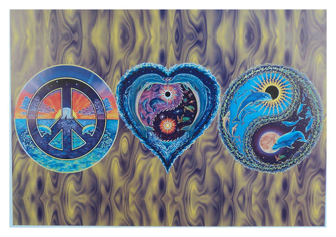 Black light Poster - 1999 - Peace, Love, Happiness