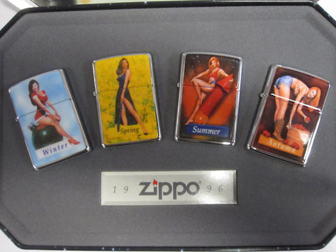 Zippo Lighter - Pinup - Pinup Girls Seasons Four Pack
