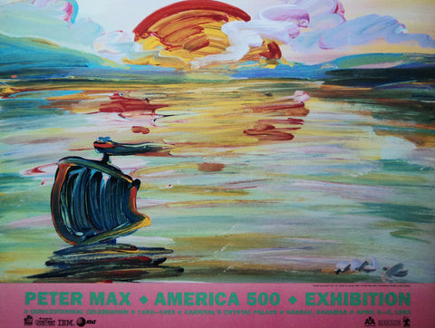 Peter Max - 1992 - America 500 - Print - Signed