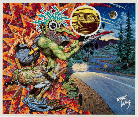 Robert Williams - 1990 - While Traveling Near Or Traveling Far, Keep Your Hands Inside The Car Poster