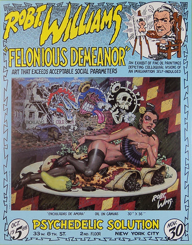 Robert Williams - Felonious Demeanor - 1988 - Print