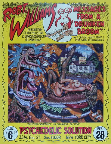 Robert Williams - Messages From a Drunken Broom - 1987 - Print