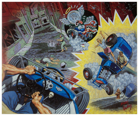 Robert Williams - 1992 - A White Knuckle Ride for Lucky St. Christopher Print (Unsigned)