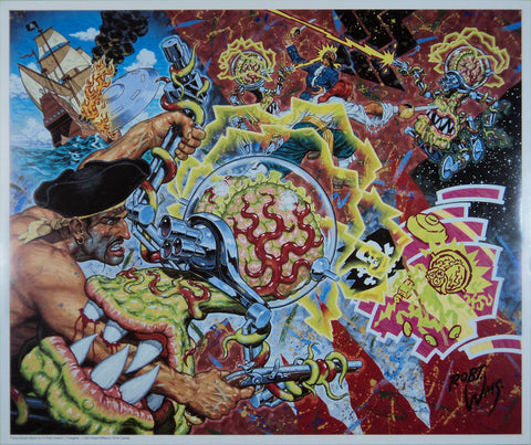 Robert Williams - Flying Saucer Attack on a Pirate Galleon - 1992 - Print (Signed/Numbered)