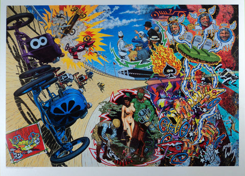 Robert Williams - 1992 - Death on the Boards Lithograph (Signed)