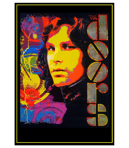 Felt Black Light Poster - 1994 - Jim Morrison
