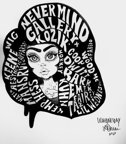 Lil Wednesday- 2020- Nevermind Re-Launch Artists Print