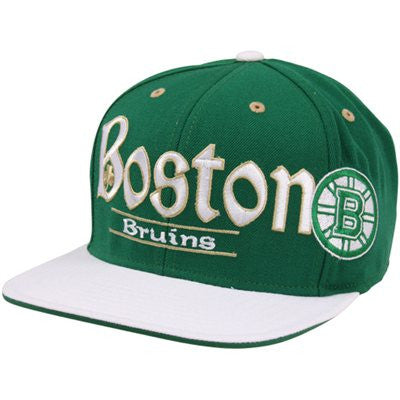 Snapback - NHL Reebok Boston Bruins St. Patrick's Day Hat