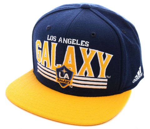 Snapback - MLS Soccer LA Galaxy Flat Bill Hat Navy / Yellow