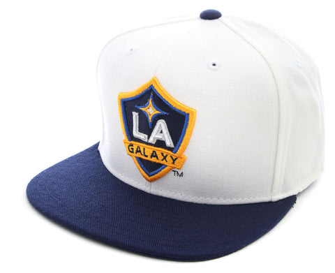 Snapback - MLS Soccer LA Galaxy Flat Bill Hat White / Navy