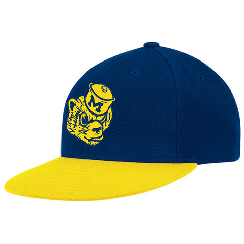 Snapback - NCAA Adidas University of Michigan Flat Brim College Vault Wolverine Hat